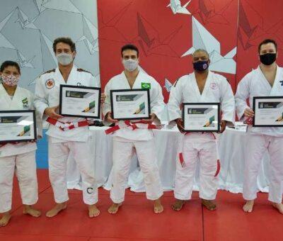 Cinq médaillés olympiques brésiliens promus 6e dan