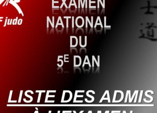 Examen national au cinquième dan 2021 : les promus